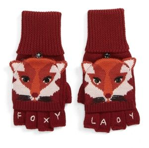 Kate Spade foxy pop top gloves